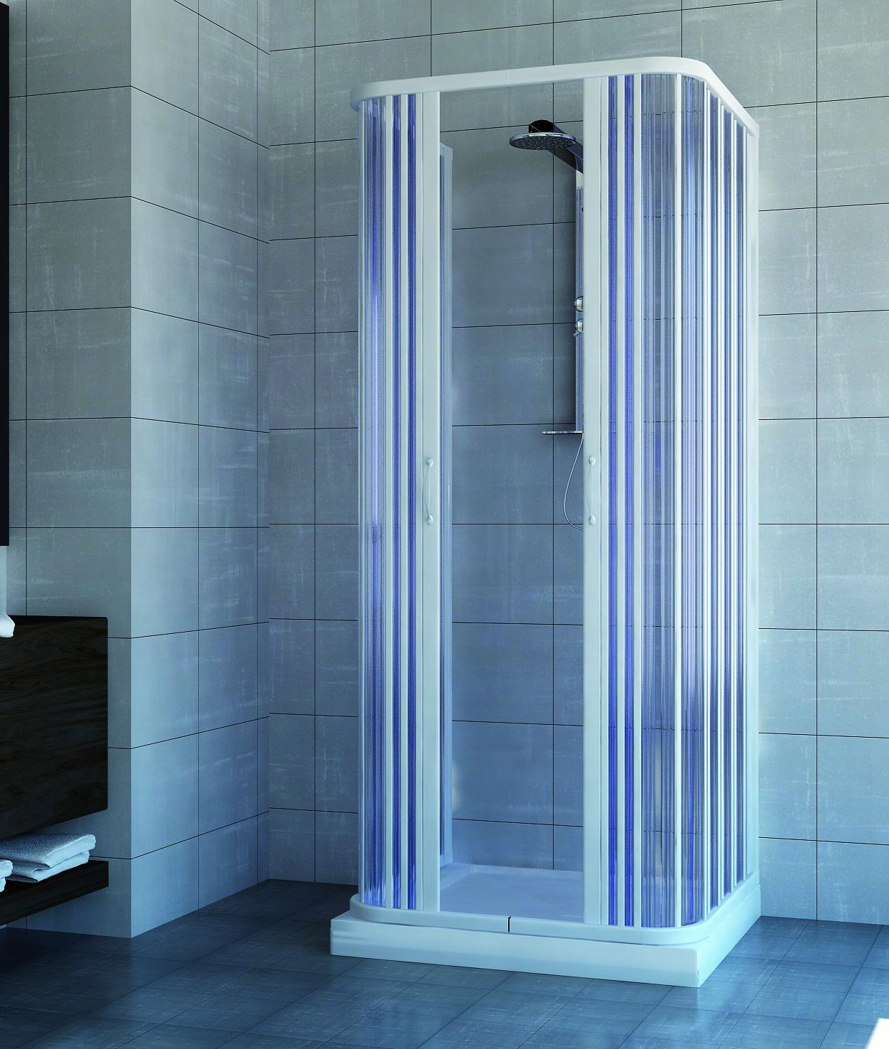 all box cabina doccia tre lati in pvc con apertura centrale 80x100x80 prodotto italiano. Black Bedroom Furniture Sets. Home Design Ideas