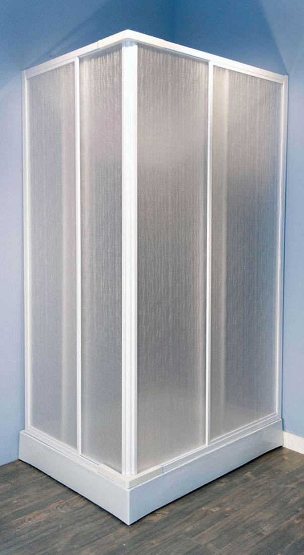 All&More.it - Box cabina doccia angolare in Acrilico e alluminio ...
