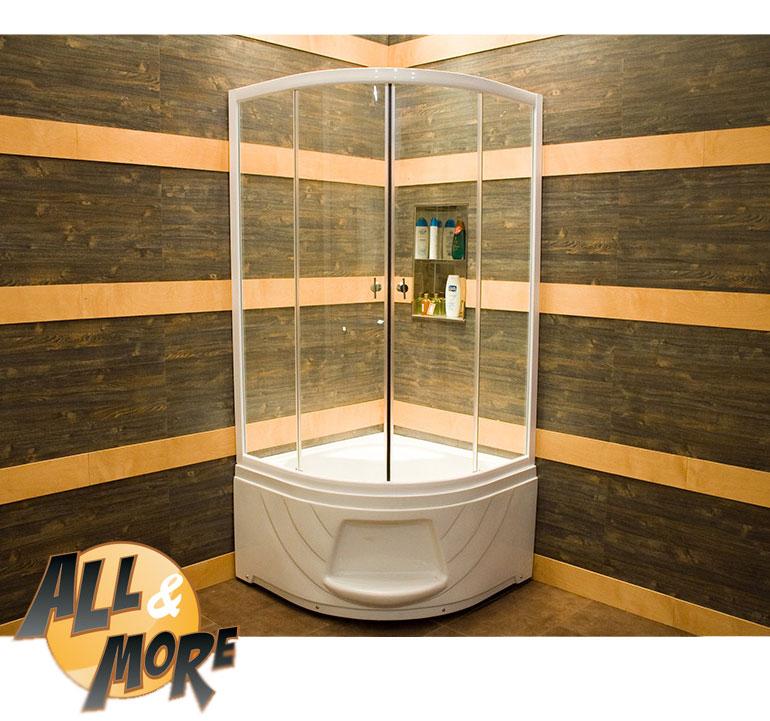 Box Doccia Con Piatto Alto.All More It Cabina Box Doccia Semicircolare Trasparente Piatto