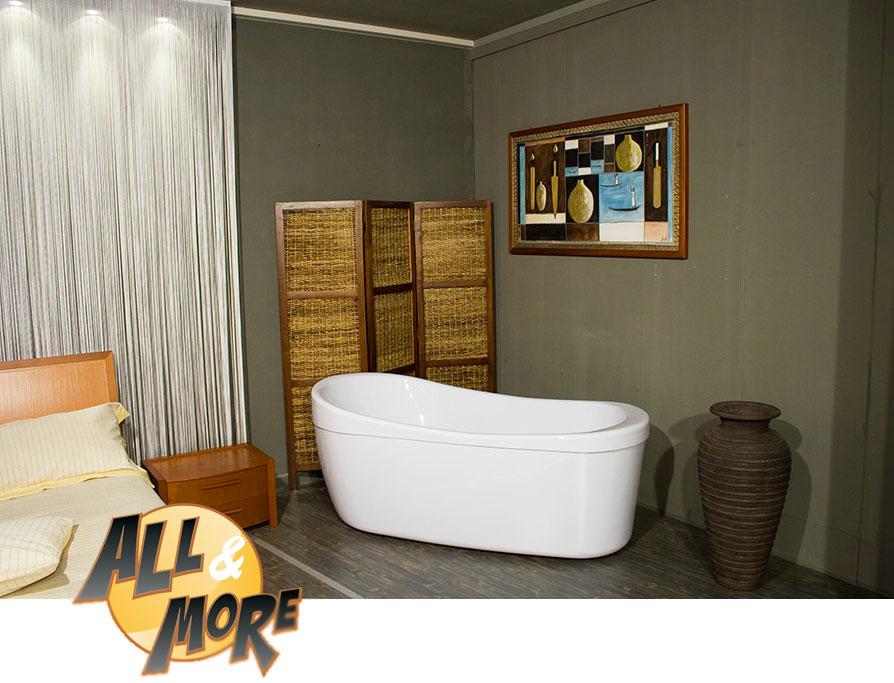 All&More.it - Box cabina doccia angolare per vasca in PVC con ...