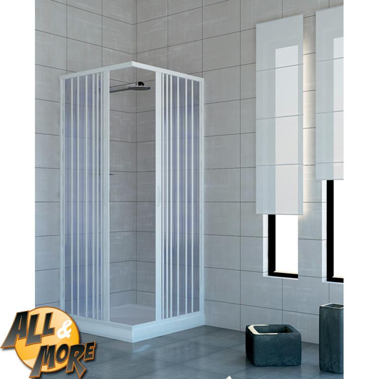 All&More.it - Box cabina doccia angolare in PVC con apertura centrale 70x...
