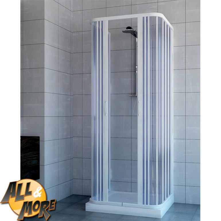 All box cabina doccia tre lati in pvc con for Pannelli doccia bricoman