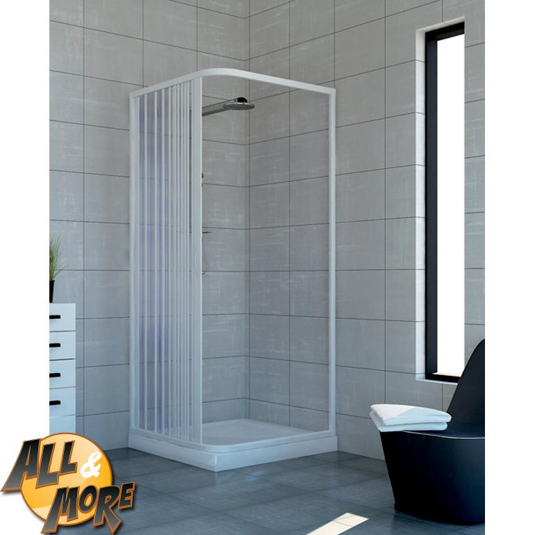 All&More.it - Box cabina doccia angolare in PVC con apertura ...