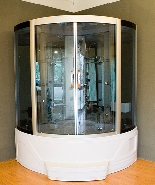 All cabina box doccia con vasca idromassaggio e for Box doccia con idromassaggio