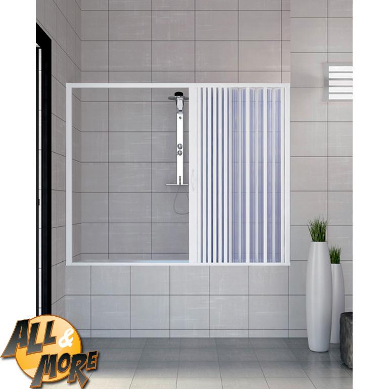 All&More.it - Box cabina porta doccia per vasca in PVC con apertura laterale 170 x 150h