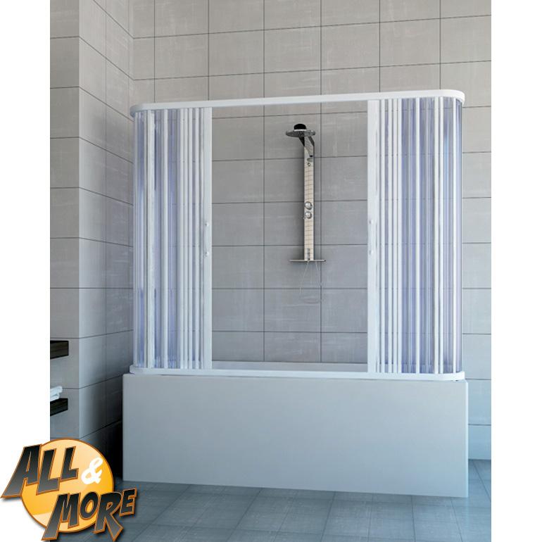 All&More.it - Box cabina porta doccia per vasca in PVC con apertura laterale 150 x 150h