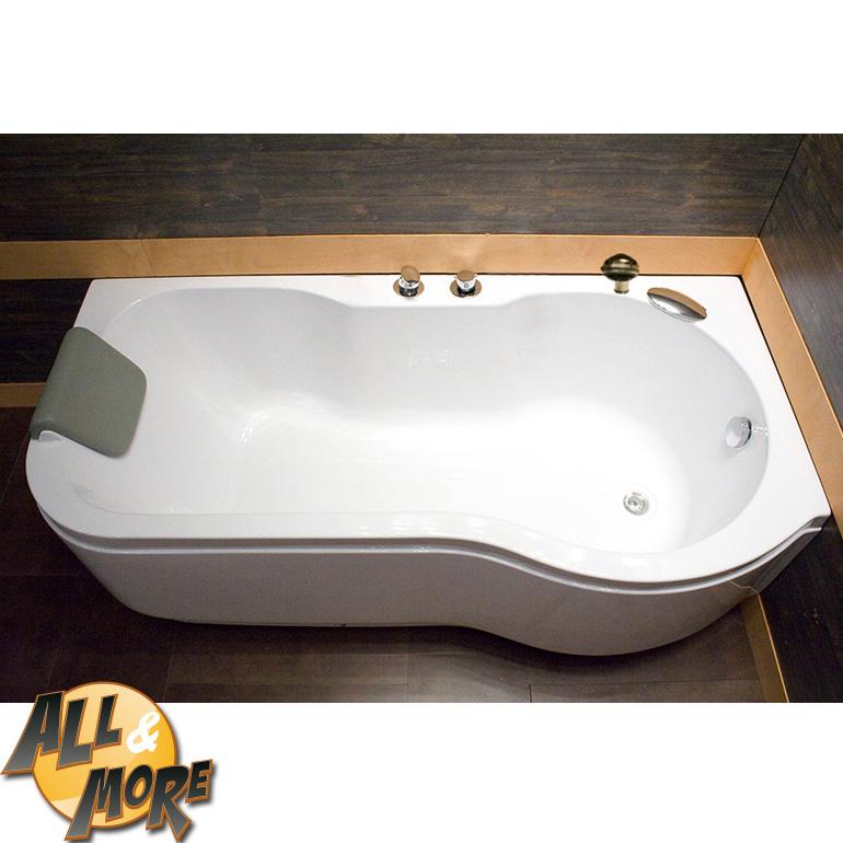 All&More.it - Vasca da bagno sinistra con angolo poggiatesta a ...